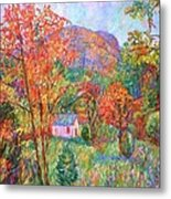 Buffalo Mountain In Fall Metal Print
