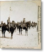 Buffalo Soldiers Of The Ninth U.s Metal Print by Everett