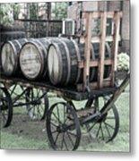 Buffalo Trace Barrel Wagon Metal Print