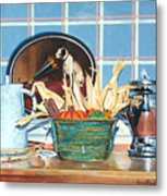Buffet Still Life Metal Print