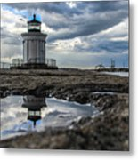 Bug Light Clouds And Reflection Metal Print