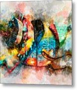 Bug Watercolor Metal Print