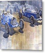 Bugatti 51 Alfa Romeo 8c 1933 Monaco Gp Metal Print