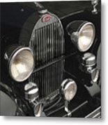 Bugatti Type 57 In Black Metal Print