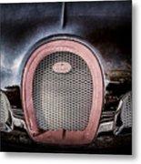 Bugatti Veyron Legend Grille Emblem -0488ac Metal Print
