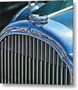 Buick Grill And Hood Ornament Metal Print