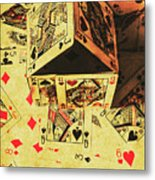 Building Bets And Stacking Odds Metal Print