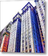 Building Closeup In Manhattan 15 Metal Print