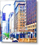 Building Closeup In Manhattan 18 Metal Print