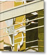 Building Reflection Abstract Color. Metal Print