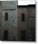 Buildings On A Side Street In Siena Metal Print