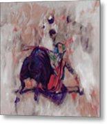 Bull Fight 009k Metal Print