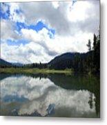 Bull Lake Cloud Reflection Metal Print
