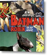 Bull Terrier Art Canvas Print - Batman Movie Poster Metal Print