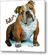 Bulldog Pop Art Metal Print