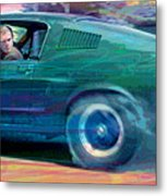 Bullitt Mustang Metal Print by David Lloyd Glover