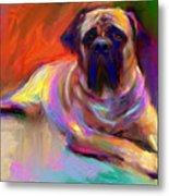 Bullmastiff Dog Painting Metal Print