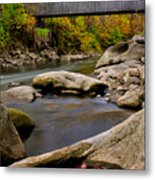 Bulls Bridge - Autumn Scene Metal Print