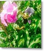 Bumble Bee In Mid Flight Metal Print
