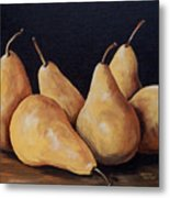 Bunch Of Bosc Pears  Metal Print