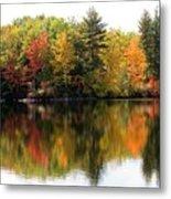 Bunganut Lake Maine Foliage 10 2016 Metal Print
