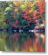 Bunganut Lake Maine Foliage 13 2016 Metal Print