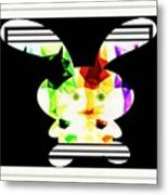 Bunny In Abstract Metal Print