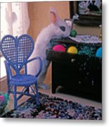 Bunny In Small Room Metal Print