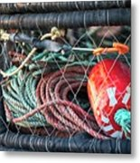 Buoy And Ropes Metal Print
