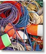 Buoys And Rope Metal Print