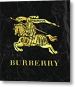 Burberry - Black And Gold - Lifestyle And Fashion Metal Print