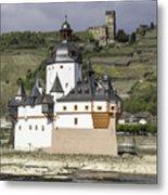 Burg Pfalzgrafenstein And Burg Gutenfals Squared Metal Print