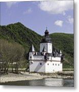 Burg Pfalzgrafenstein Squared Metal Print