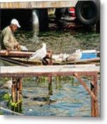 Burgazada Island Fisherman Metal Print