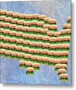 Burger Town Usa Map Metal Print