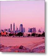 Burj Khalifa Previously Burj Dubai At Sunset Metal Print