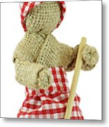 Burlap Doll Close-up View Metal Print