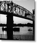 Burlington Bristol Bridge  Metal Print by D R TeesT
