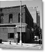 Burlington, Nc - Main Street And Front Metal Print