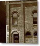 Burlington North Carolina - Arches And Alley Sepia Metal Print