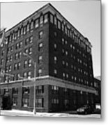 Burlington North Carolina - Main Street Bw Metal Print