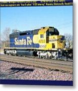 Burlington Northern Santa Fe Bnsf Metal Print