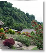 Burma Village Home Metal Print