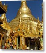 Burma's Golden Pagoda Metal Print