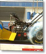 Burn Out On The Track Metal Print