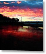 Burn Sunset Metal Print