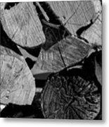Burned Wood In The Pile Metal Print