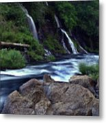Burney Falls Creek Metal Print
