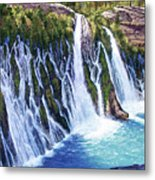 Burney Falls Metal Print by Donald Neff