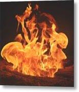 Burning Fire Metal Print by Stephanie  Varner